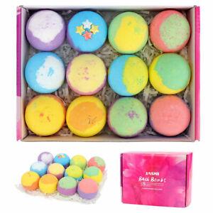 12PCS Sets of Bath Bombs Organic Bath Fizzy w/gift Box Skin Moisturize Bubble