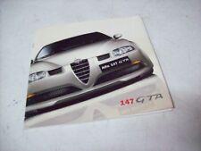 DEPLIANT ALFA ROMEO 147 GTA - ORIGINALE