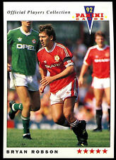 Bryan Robson Manchester United #139 Panini Football 1992 Card (C358)