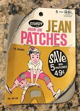 Sturdy Iron On Jean Patches Nos Sp 20 6.5� x 5�
