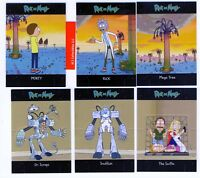 Cryptozoic Rick and Morty Season 1 Standees 6-Card Hobby Chase Set MINT