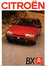 Catalogue publicitaire CITROEN BX GTI 16 SOUPAPES 16 TRS RS