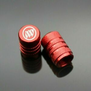 4Pcs Red Car Logo Tire Air Valve Stems Caps Wheel Tyre Valve Cover for Buick