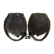 1 Piece Clip On Bang Fringe Fiber Hair Extension Front Natural Hairpiece Women