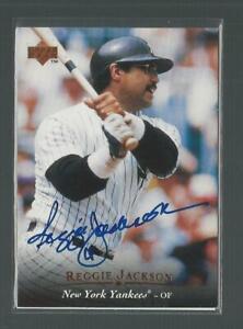 1994 Upper Deck Reggie Jackson Yankees On Card Buyback Auto with UDA COA Hot! JC