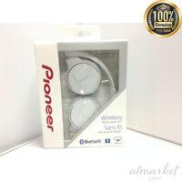 Pioneer SE-MJ553BT-W Bluetooth Wireless Headphones Foldable White New from Japan