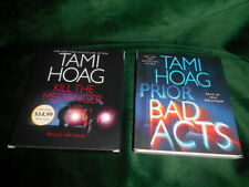 "Tami Hoag Audio Book Lot ""Kill the Messenger"" & "" Bad Acts"" CD Books"