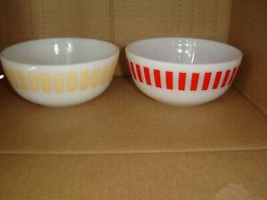 Blue Pink Hazel-Atlas Moderntone Yellow Pastel Bowls Platonite 40s 50s Set of 8 Vintage Small Bowls Retro Berry Bowls Green