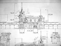"Disneyland ""Main Street Train Station"" Blueprint"