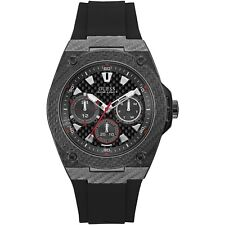 OROLOGIO GUESS LEGACY W1048G2 watch silicone nero CARBON MULTIFUNZIONE 45 MM