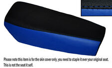 BLACK & ROYAL BLUE CUSTOM FITS YAMAHA DT 175 MX 78-79 DUAL LEATHER SEAT COVER