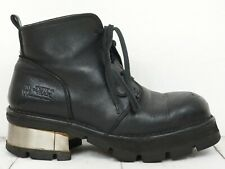 NEW ROCK 💕 Herren Boots Gr. 45 Stiefeletten Leder Schwarz Leather Man Shoes