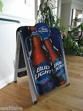 Budweiser Beer Bud Light Restaurant Bar Wood A-Frame 2 Sided Sign Chalkboard USA