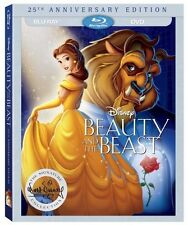 Beauty and the Beast (Blu-ray/DVD, 2016, 2-Disc Set 25th Anniversary Edition New