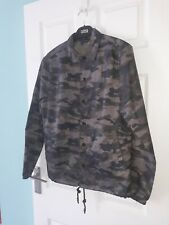 H&M MENS XS ARMY GREEN CAMOUFLAGED WIND BREAKER JACKET
