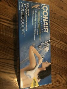 New Conair Body Benefits Aquassager Water Powered Massager Hand Held Percussion