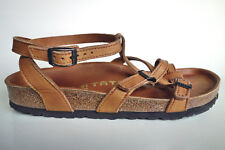 TATAMI BIRKENSTOCK Waxy-Leather Sandals ABUJA EXQ Rust-brown EU41 US10 UK8 Reg.