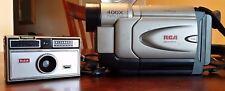 RCA Steady Pix VHS-C Camcorder CC6254 & VINTAGE Kodak Camera Instamatic 104 SET