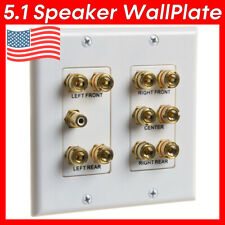 Home Theater Wall Plate 5.1 Surround Sound System Speaker Face Plate Banana RCA