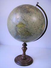 Antiker seltener Globus mit Holz Fuß vor 1945 (3)