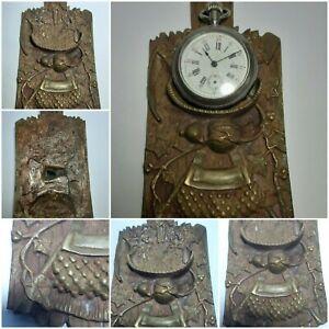Antique French harvest  theme pocket watch holder
