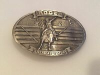 Bergamot Rodeo America's #1 Sport Cowboy On Bull Belt Buckle Bergamot Brass 1977
