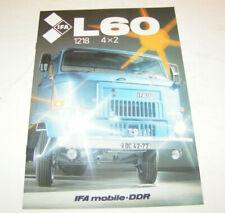 Prospekt / Broschüre DDR LKW - IFA L 60 Pritschenfahrzeug - Ausgabe 1990