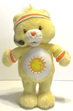 Care Bears Yellow Funshine Bear 2004 Workout Fitness Singing Talking Sun Dancing