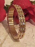 2ct Citrine Yellow Bracelet 24kt GOLD Gemstone Jewelry gift for her HANDMADE Gem