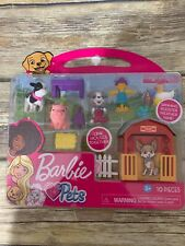 Barbie Pets Farm Set Pig Cow Puppy Scarecrow Rooster NEW Free Shipping