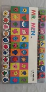 NEW Mr Men Pencil and Eraser Set of 22 Gift Stationary School
