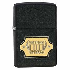 Zippo Windproof Black Crackle Vietnam Veteran Lighter, 28875, New In Box