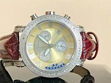 JoJo Unisex  .50 CTW Diamonds Chrono Watch Joe Rodeo floating diamonds rainbow