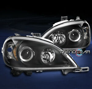 FOR 1998-2005 MERCEDES-BENZ W163 ML350 ML500 BLACK PROJECTOR HEADLIGHT HEADLAMP