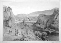 ITALY San Lorenzo in South Tyrol - 1870s Original Engraving Print