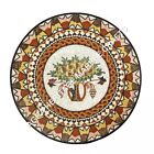 """36"""" Mosaic Inlaid Marble Round Dining Top Center Table Scagliola Decor H4893A"""