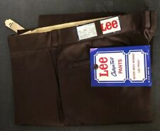 Vintage Lee Chetopa twill work pants New with tags 38x32 brown poly/cott blend
