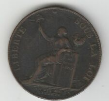 France 1791 2 Sols Token Coin Liberte Sous La Loi  KM# Tn23