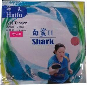 HaiFu shark II (Factory Tuned) Pips-In Table Tennis Rubber/Sponge, New