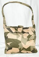 NEW GAP Green & Tan Camo Camouflage Canvas Shoulder Bag NWOT