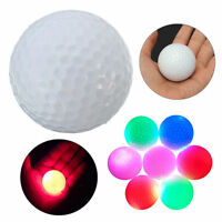 1PC For Night Gift Light-up Color Flashing Glowing LED Electronic Golf Ball EB
