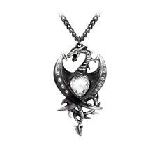 Diamond Heart Dragon Pendant - Alchemy Gothic Jewellery P609