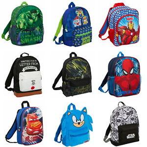 Boys Character Backpack Kids Hero School Nursery Travel Rucksack Lunch Book Bag