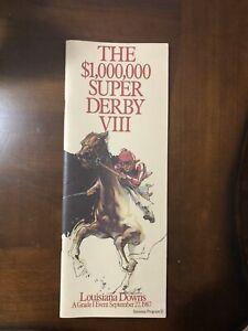 Alysheba - 1987 Louisiana Super Derby Program