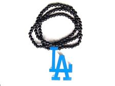 New Hip-hop fashion good wood nyc Necklace LA Los Angeles Dodgers logo