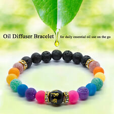 7 Chakra Bracelet. Crystal Anxiety Healing Stones. Jewellery Beads gift reiki