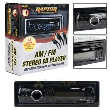Single DIN AM FM Stereo CD Player Raptor Installation Accessories RP-CDX AUX USB