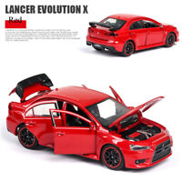 Mitsubishi Lancer Evolution X 1:32 Diecast Model Car Toy Collection Sound&Light