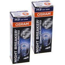 2x H3 OSRAM Night Breaker Unlimited 110% mehr Licht 64151NBU Set