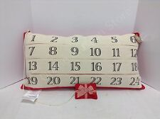 Christmas Advent Count down Calendar Accent sofa bed throw Pillow w insert